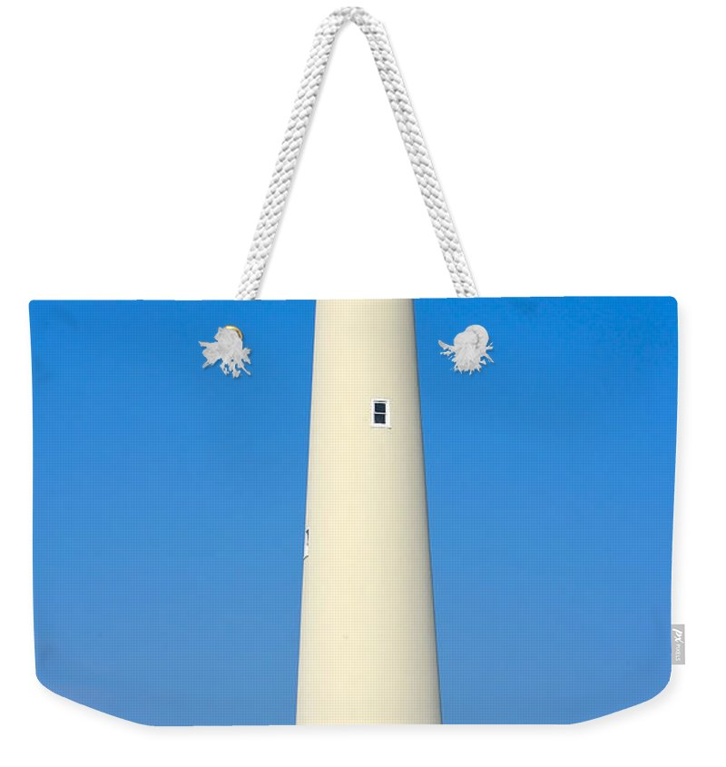 Lighthouses Weekender Tote Bag featuring the photograph Cape May Lighthouse by Anthony Sacco