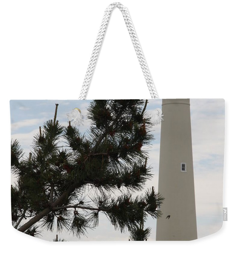 Lighthouse Weekender Tote Bag featuring the photograph Cape May Lighthouse by Christiane Schulze Art And Photography