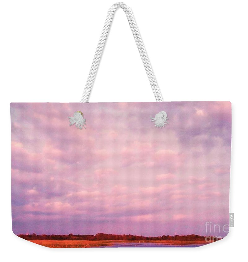 Cape May Weekender Tote Bag featuring the painting Cape May Point by Eric Schiabor