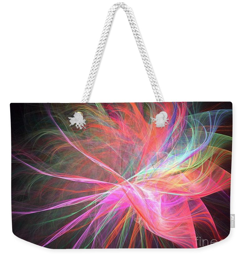 Apophysis Weekender Tote Bag featuring the digital art Capella by Kim Sy Ok