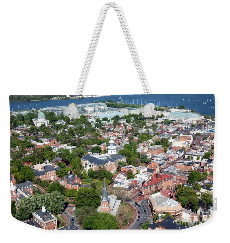 Historic District Weekender Tote Bag featuring the photograph Capital City Of Maryland by Bill Cobb
