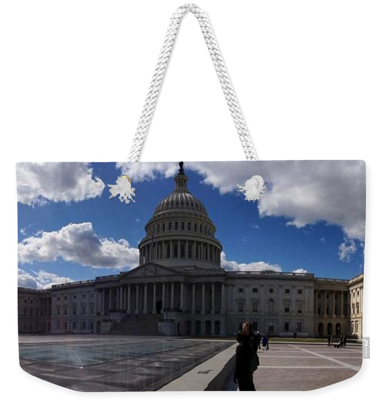 Capitol Weekender Tote Bag featuring the photograph Capitol Early Spring by Lois Ivancin Tavaf