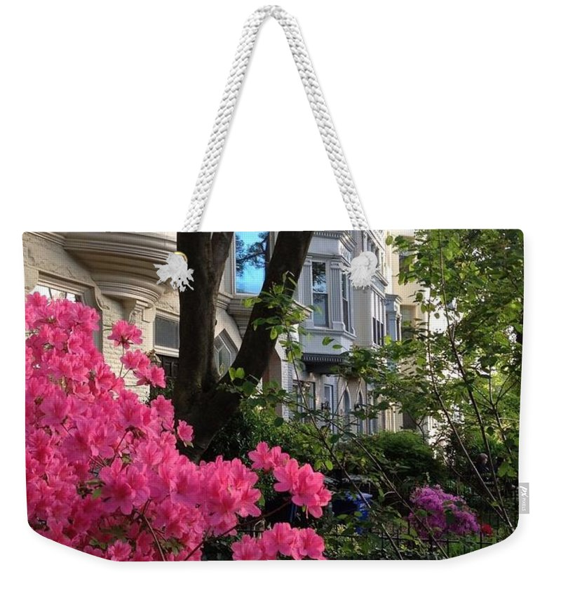 Capitol Hill Weekender Tote Bag featuring the photograph Capitol Hill Azaleas by Lois Ivancin Tavaf