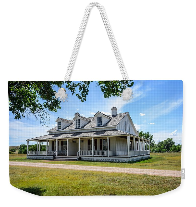 Captain's Quarters Fort Laramie Wyoming Weekender Tote Bag featuring the photograph Captain's Quarters Fort Laramie Wyoming by Debra Martz