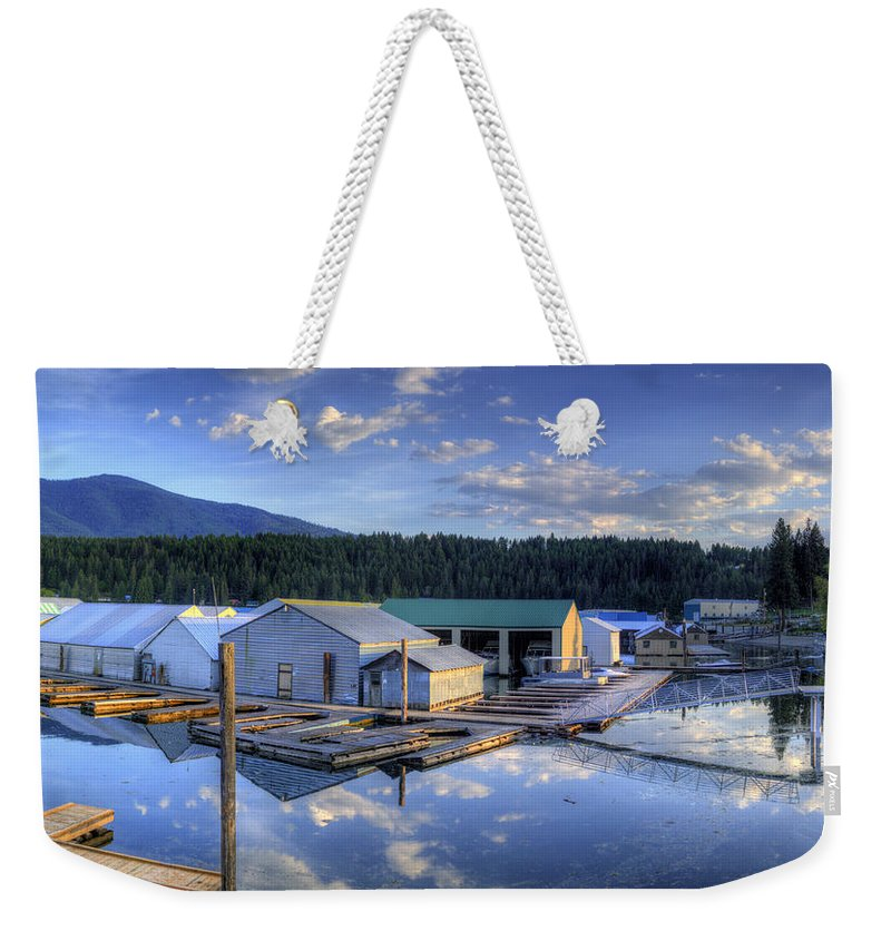 Bayview Weekender Tote Bag featuring the photograph Bayview Marina 2 by Lee Santa