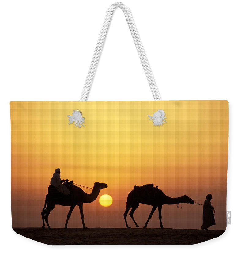 Photography Weekender Tote Bag featuring the photograph Caravan Morocco by Panoramic Images