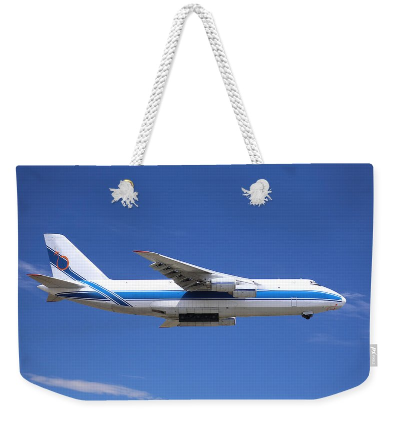 Antonov Weekender Tote Bag featuring the photograph Cargo Plane by Paul Fell