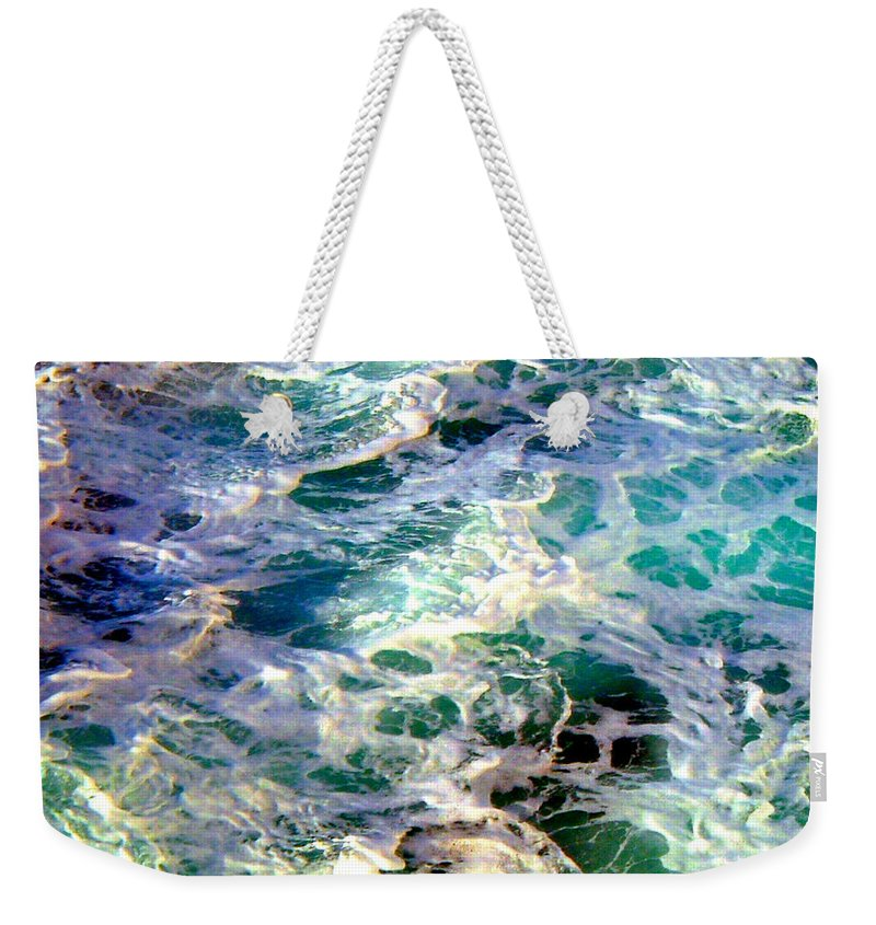 Caribbean Waters Weekender Tote Bag featuring the photograph Caribbean Waters by Anita Lewis