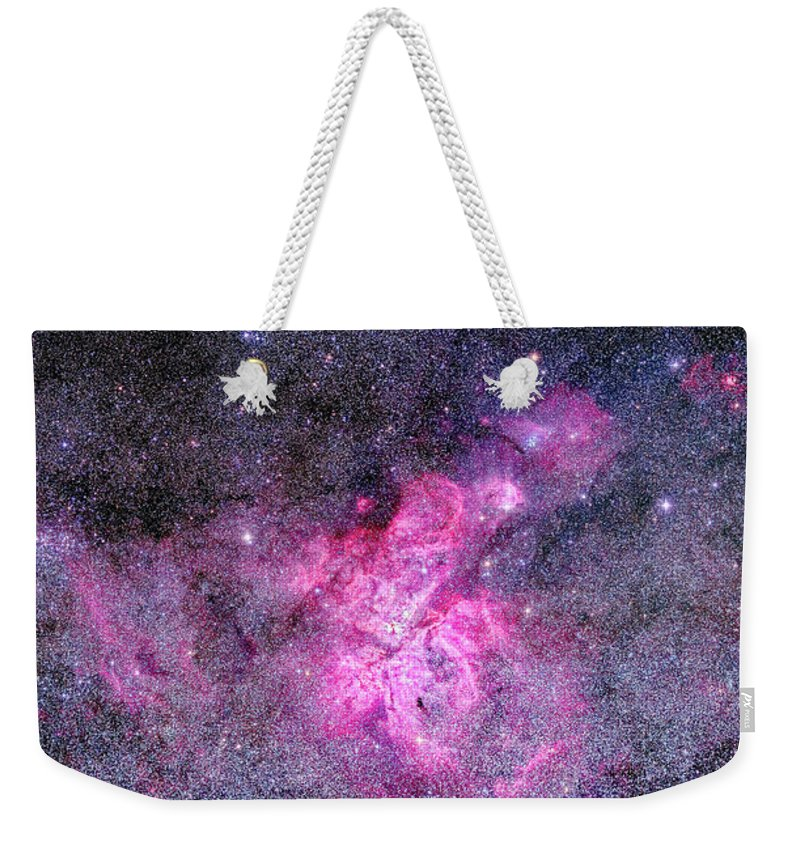 Carina Nebula Weekender Tote Bag featuring the photograph Carina Nebula Panorama by Alan Dyer