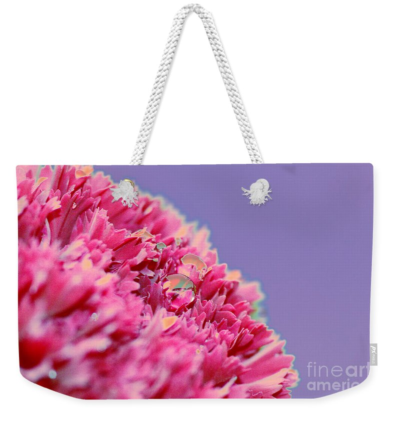 Carnation Weekender Tote Bag featuring the digital art Carnation by Carol Lynch