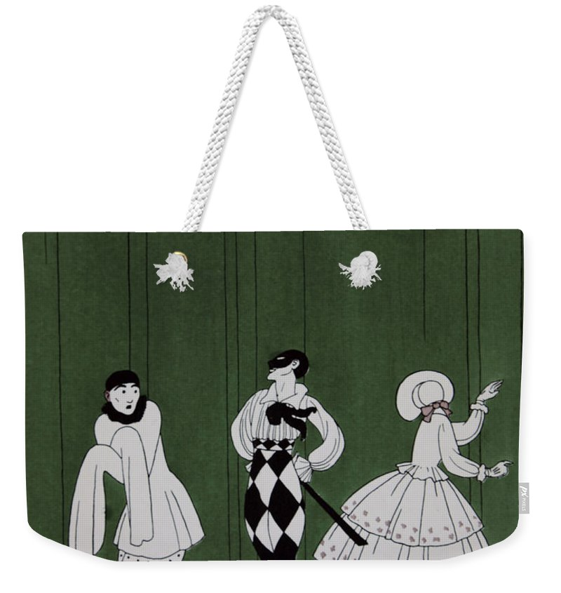 Ballet Weekender Tote Bag featuring the painting Carnaval by Georges Barbier