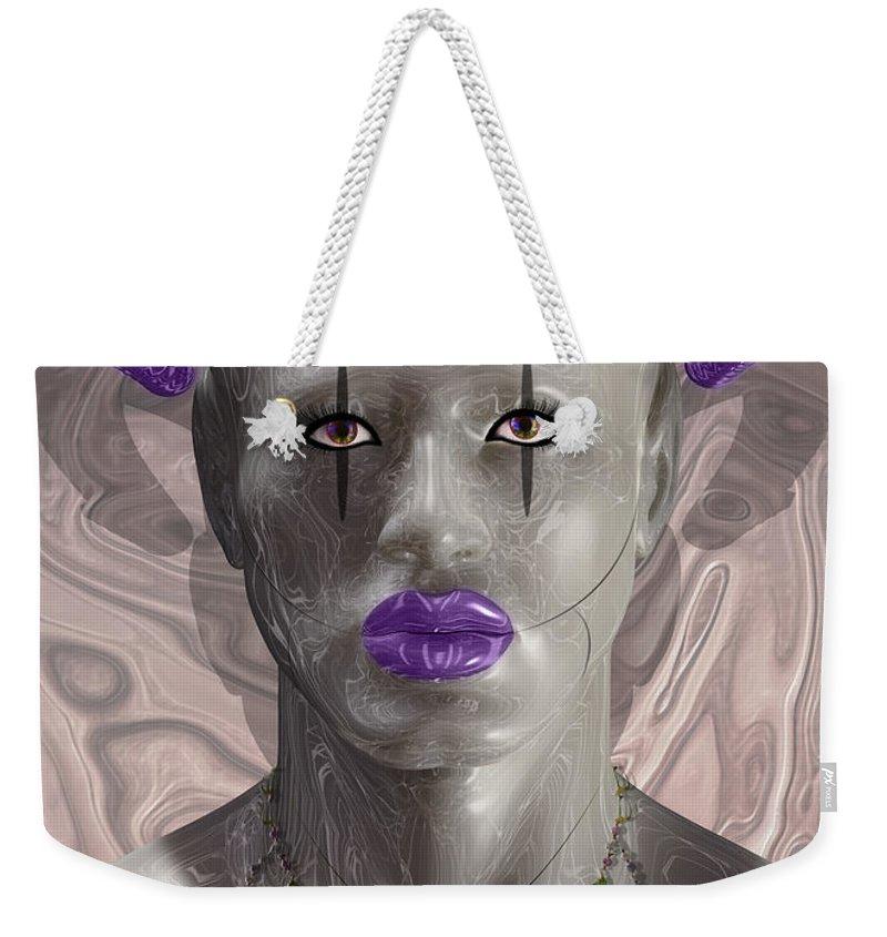 Carnival Weekender Tote Bag featuring the digital art Carnival Of Robotic Dionysus by Quim Abella
