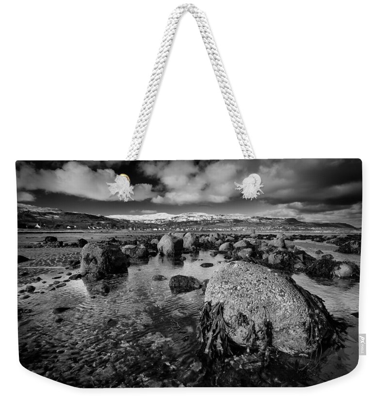 Carnlough Weekender Tote Bag featuring the photograph Carnlough Bay by Nigel R Bell
