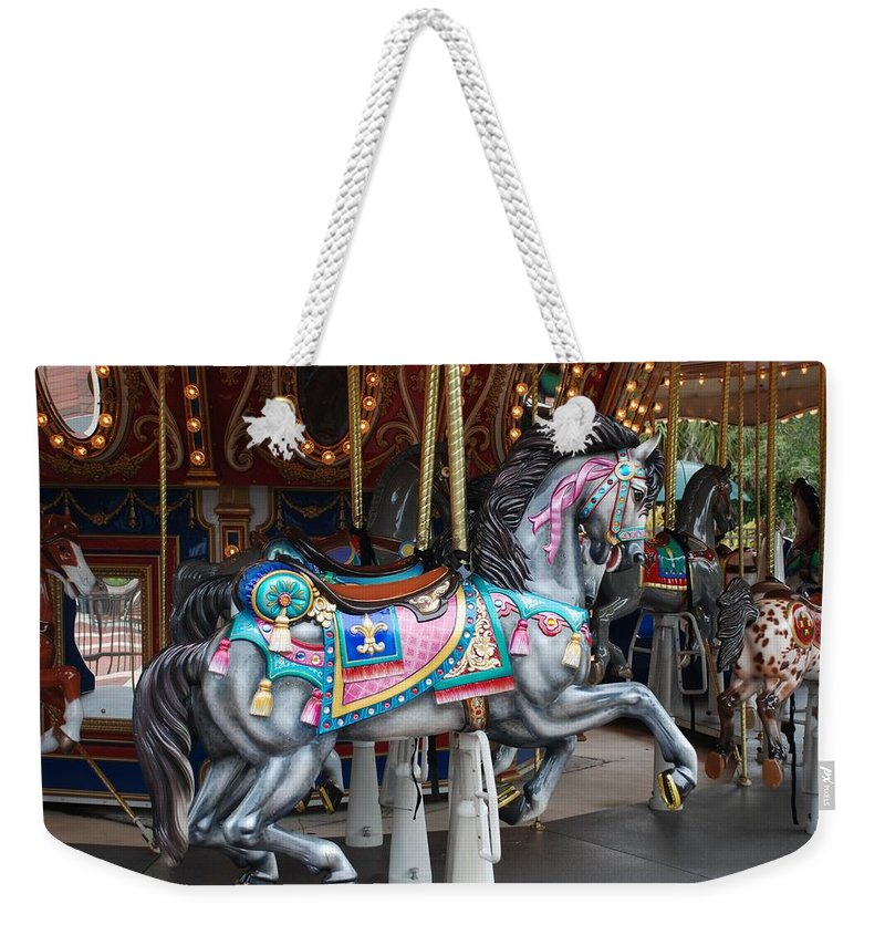 Carousel Weekender Tote Bag featuring the photograph Carousel by Rob Hans