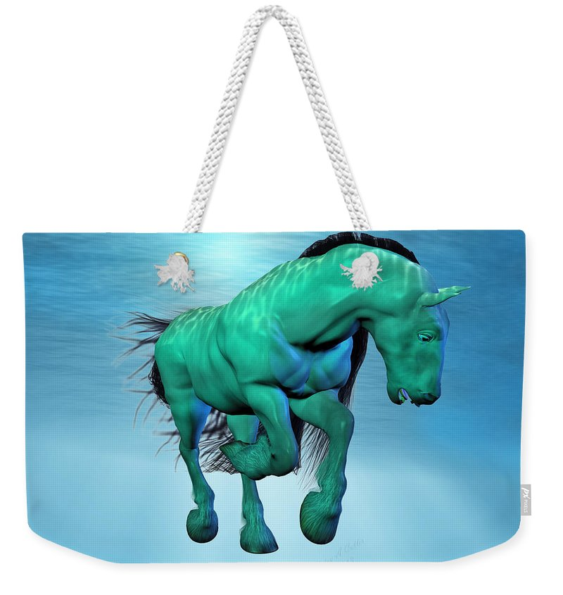 Horse Weekender Tote Bag featuring the digital art Carousel Xii by Betsy Knapp