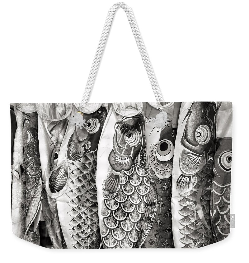 Daytrip Weekender Tote Bag featuring the photograph Carp Kites by For Ninety One Days