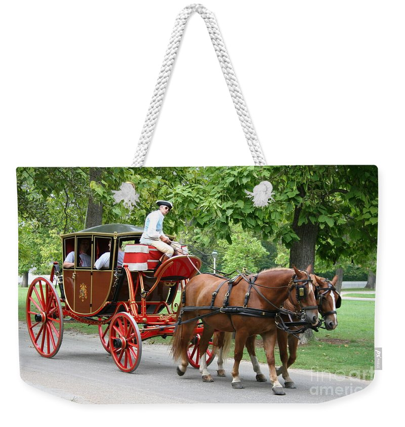 Carriage Weekender Tote Bag featuring the photograph Carriage by Christiane Schulze Art And Photography