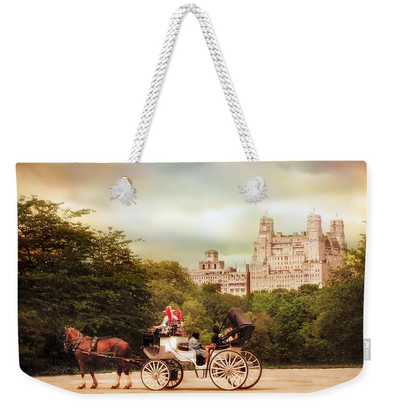 Horse Weekender Tote Bag featuring the photograph Carriage Ride In Central Park by Jessica Jenney