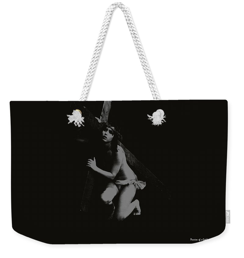 Experimental Weekender Tote Bag featuring the photograph Carrying The Cross by Ramon Martinez