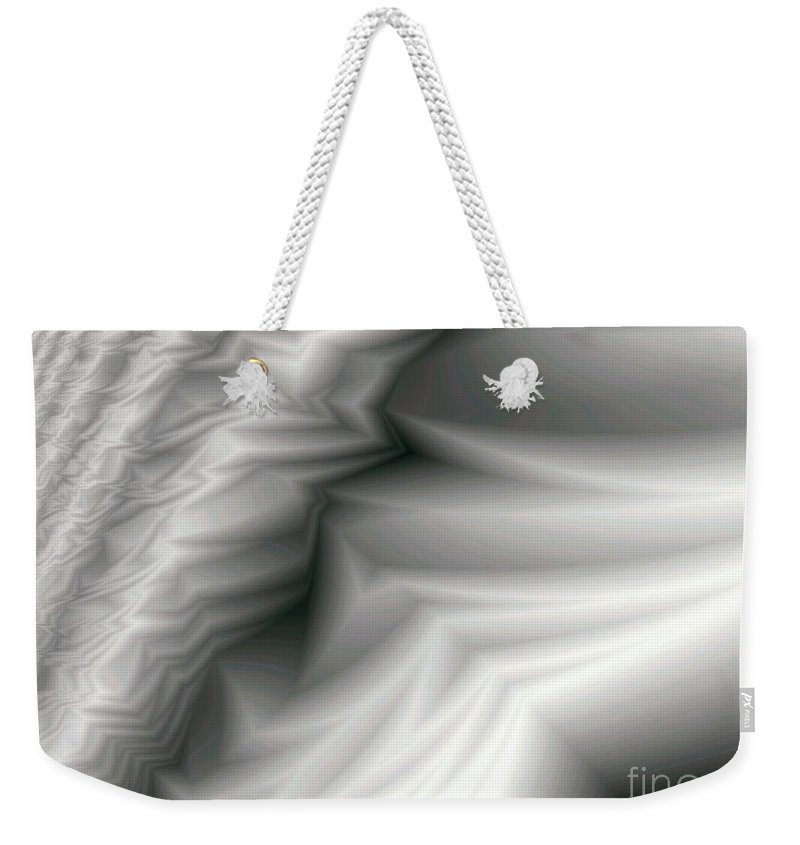 Fractal Weekender Tote Bag featuring the digital art Carved Ivory by Ron Bissett