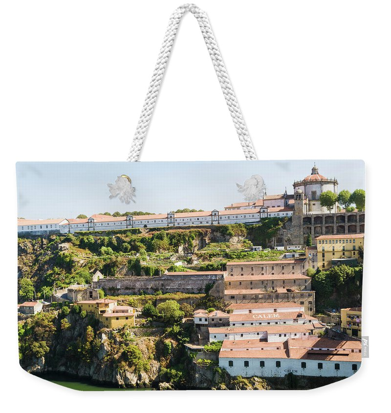Clear Sky Weekender Tote Bag featuring the photograph Casa Calem, Port Wine Houses, Porto by John Harper