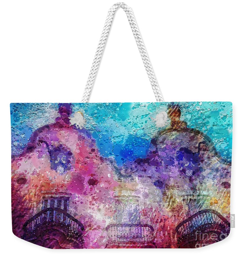 Casa Calvet Weekender Tote Bag featuring the painting Casa Calvet by Mo T