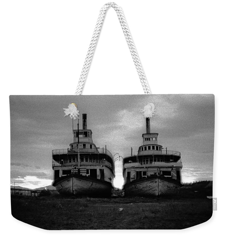 Casca And Whitehorse Weekender Tote Bag featuring the photograph Casca And Whitehorse by Marty Saccone
