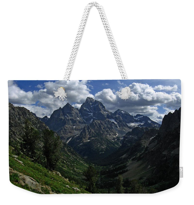 Grand Teton Weekender Tote Bag featuring the photograph Cascade Canyon North Fork by Raymond Salani III
