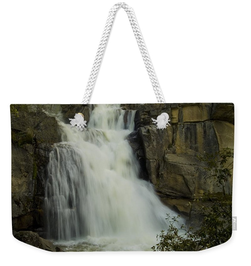 Cascade Creek Weekender Tote Bag featuring the photograph Cascade Creek Under The Bridge by Bill Gallagher