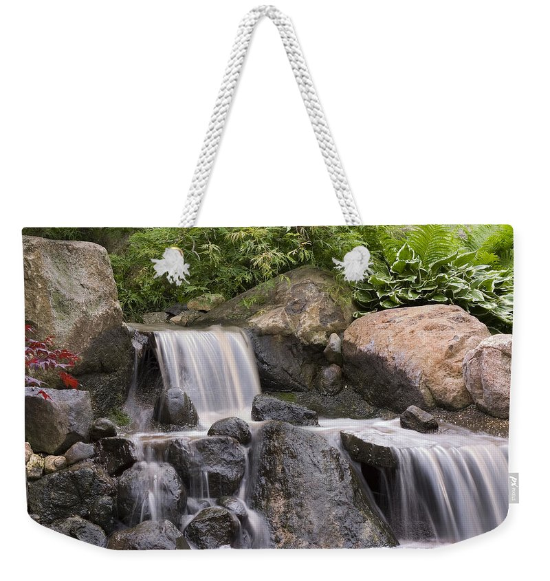 3scape Photos Weekender Tote Bag featuring the photograph Cascade Waterfall by Adam Romanowicz