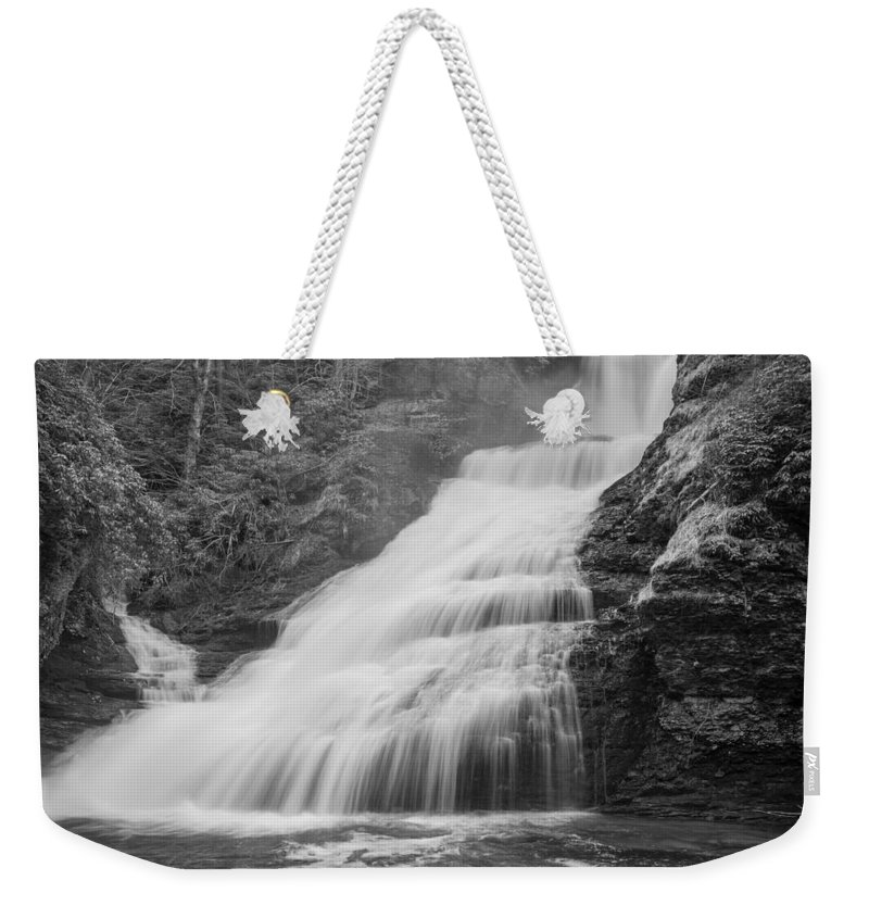 Pennsylvania Weekender Tote Bag featuring the photograph Cascades by Kristopher Schoenleber