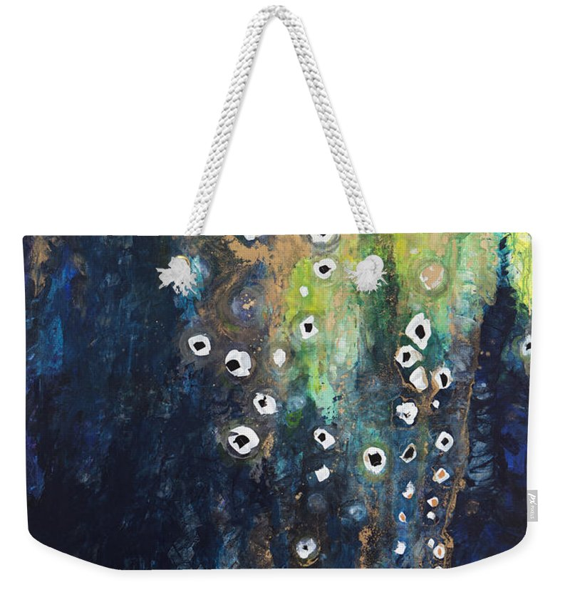 Abstract Weekender Tote Bag featuring the painting Cascading Colors II by Tara Thelen