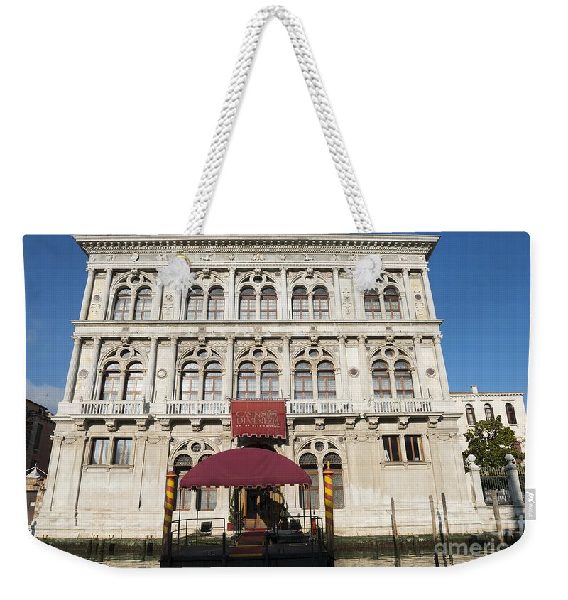 Casino Weekender Tote Bag featuring the photograph Casino by Mats Silvan
