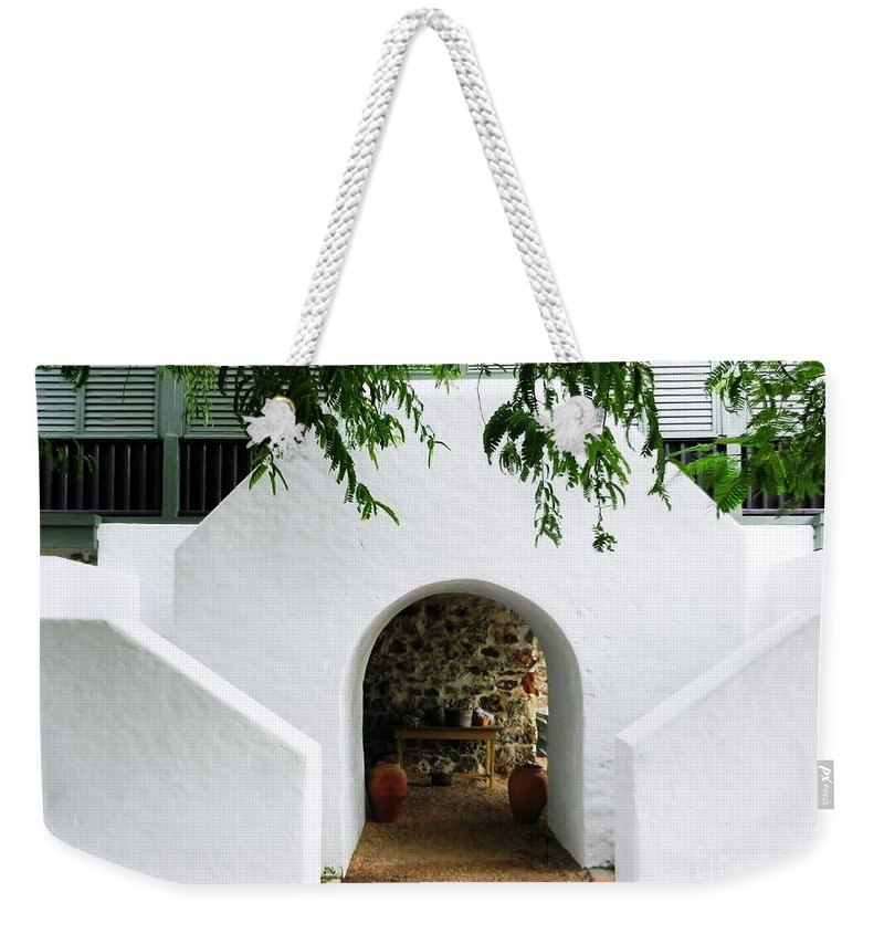 Color Weekender Tote Bag featuring the photograph Castle Entrance by Amar Sheow