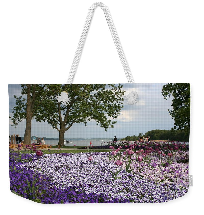 Schwerin Weekender Tote Bag featuring the photograph Castle Garden Schwerin - Germany by Christiane Schulze Art And Photography