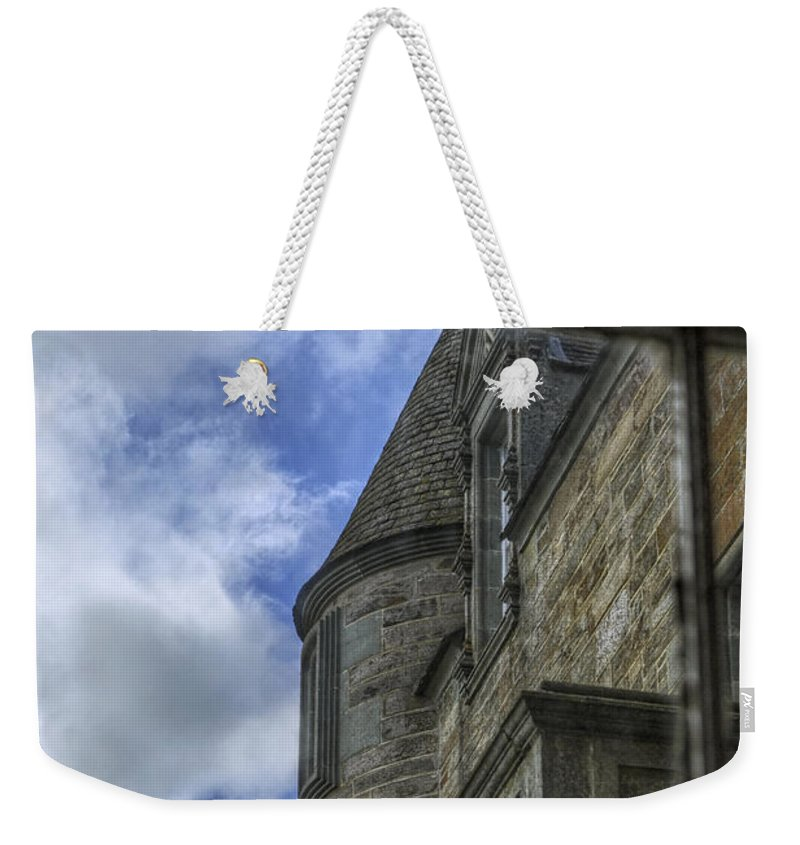 Castle Weekender Tote Bag featuring the photograph Castle Menzies From The Window by Jason Politte
