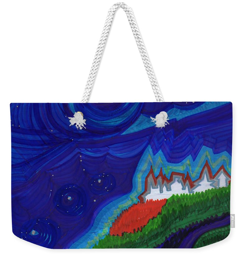 First Star Art Weekender Tote Bag featuring the drawing Castle On The Cliff By Jrr by First Star Art
