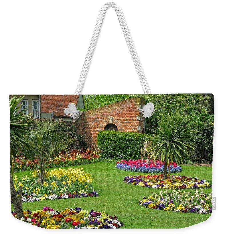 Garden Weekender Tote Bag featuring the photograph Castle Park Gardens by Ann Horn