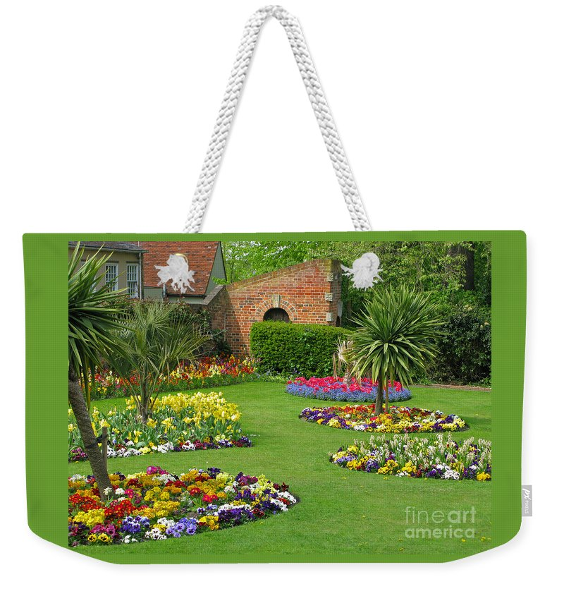 Garden Weekender Tote Bag featuring the photograph Castle Park Gardens by Ann Horn
