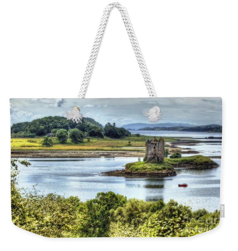 Castle Weekender Tote Bag featuring the photograph Castle Stalker by Traci Law