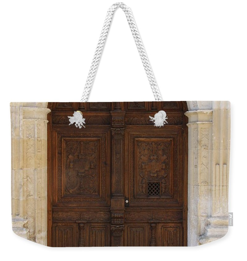 Castle Weekender Tote Bag featuring the photograph Castledoor by Christiane Schulze Art And Photography