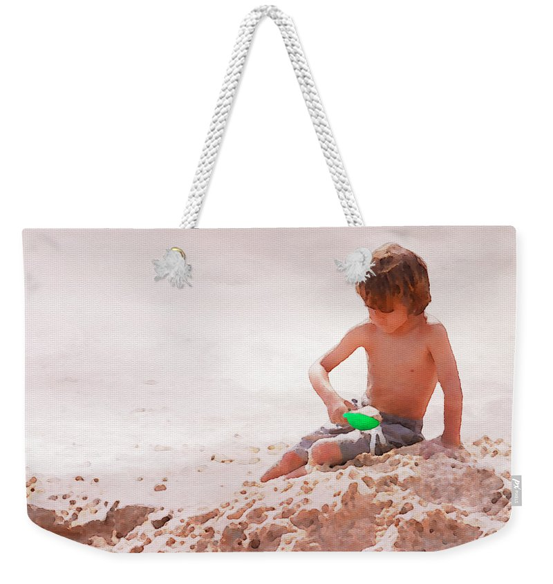 Boy Weekender Tote Bag featuring the photograph Castlemaker by Alice Gipson