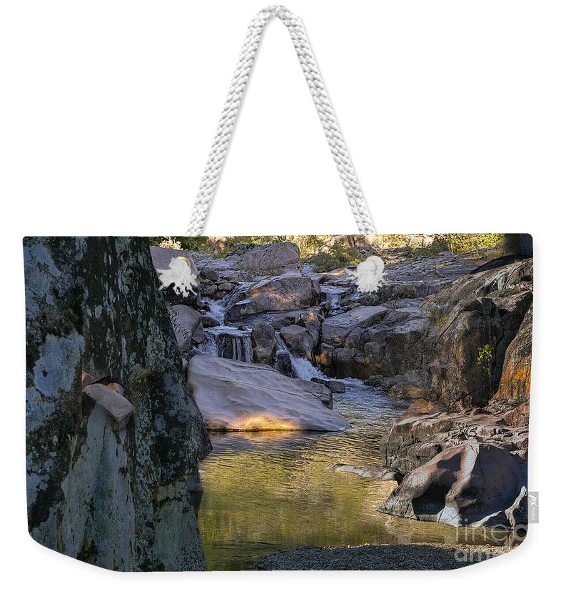 2012 Weekender Tote Bag featuring the photograph Castor River Shut-ins by Larry Braun