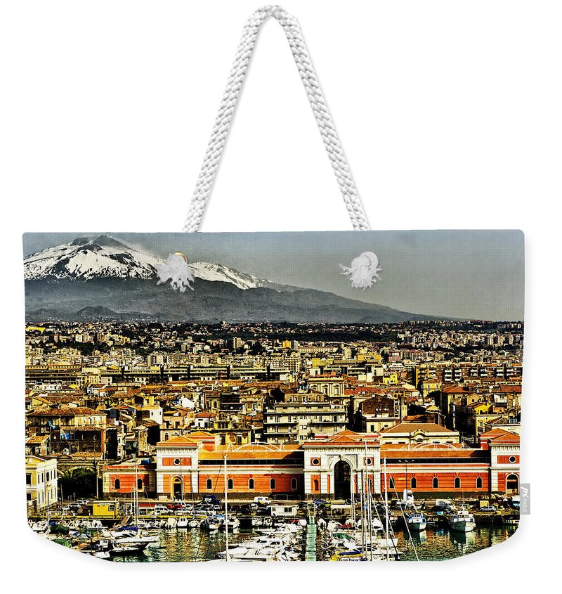 Catania Sicily Weekender Tote Bag featuring the photograph Catania Sicily by Jon Berghoff