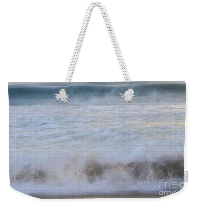 Landscapes Weekender Tote Bag featuring the photograph Catch The Waves by Amanda Sinco