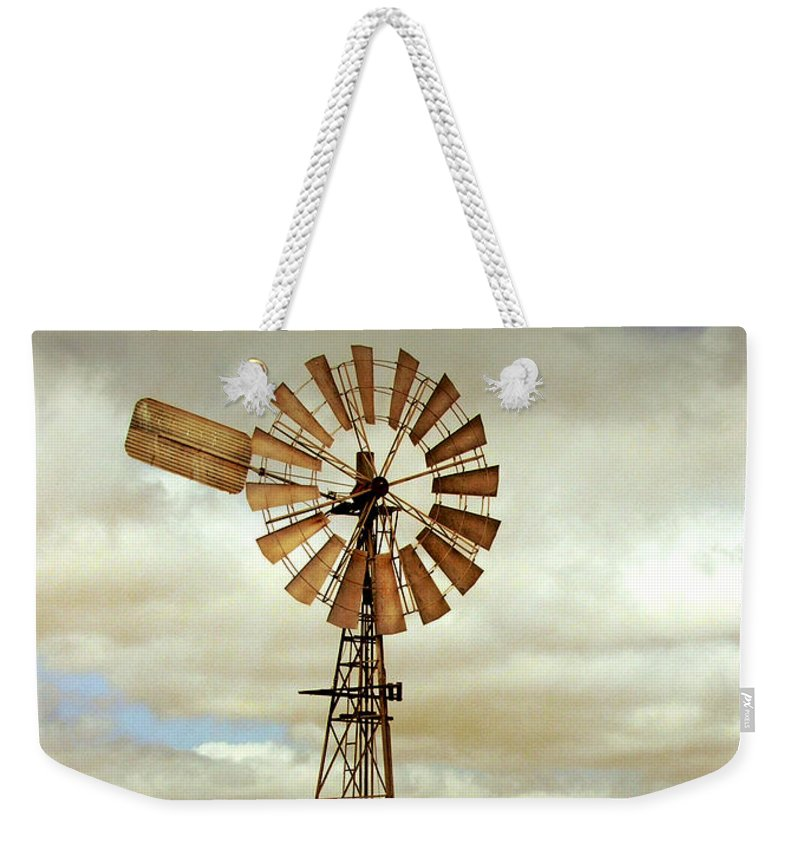 Windmill Weekender Tote Bag featuring the photograph Catch the Wind by Holly Kempe