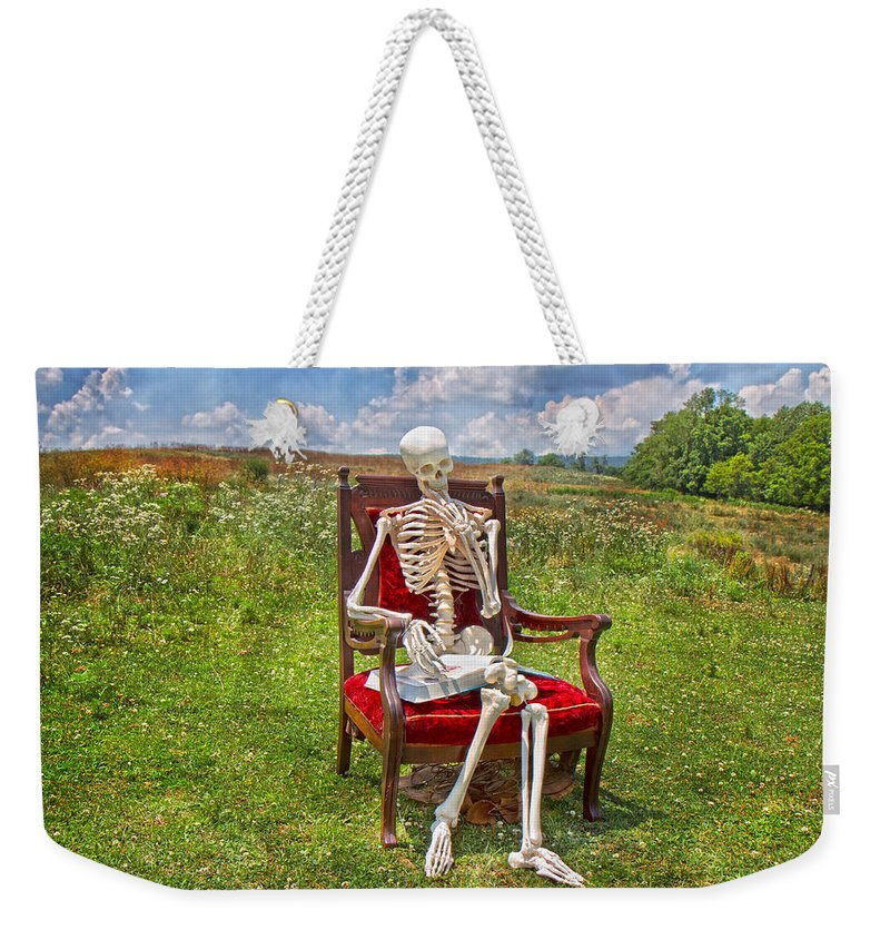 Physiology Weekender Tote Bag featuring the photograph Catching Up On Human Anatomy And Physiology by Betsy Knapp