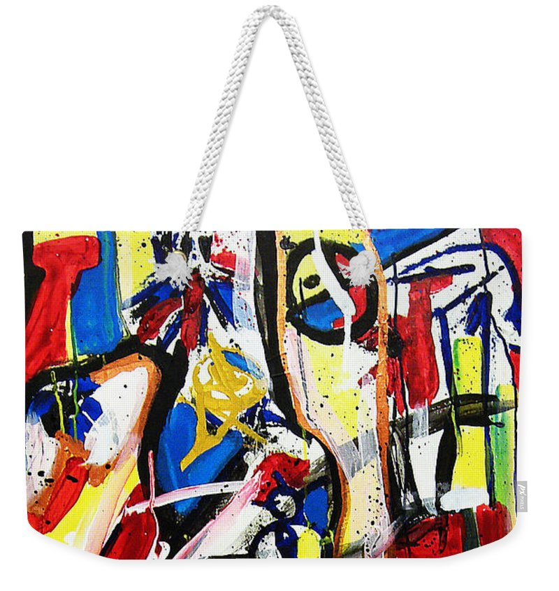 Painting Weekender Tote Bag featuring the painting Catharsis by Jeff Barrett