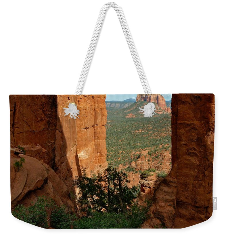 Photo Weekender Tote Bag featuring the photograph Cathedral Rock 05-012 by Scott McAllister