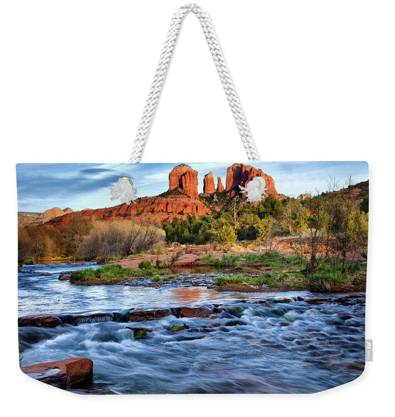 Cathedral Rock Weekender Tote Bag featuring the photograph Cathedral Rock II by Diana Powell